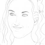 Florence Porcel - esquisse